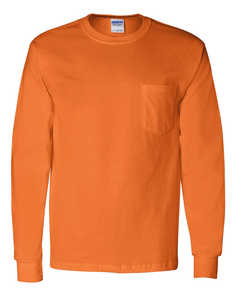 Gildan ultra cotton long sleeve t shirt with a pocket 2410 ebay - Gildan Ultra Cotton Long Sleeve T Shirt With