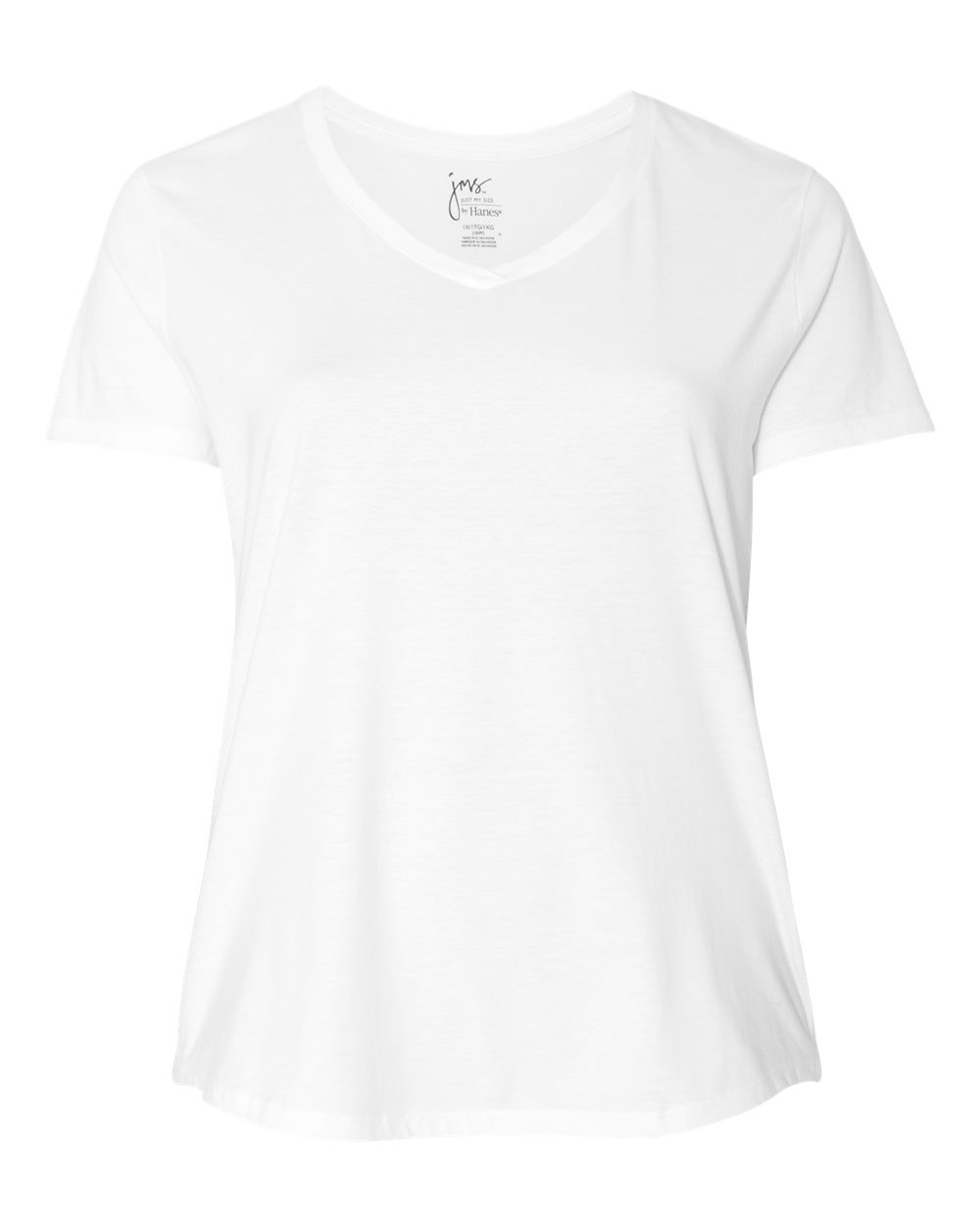 Womens V-Neck Short Sleeve T-Shirt-Just My Size