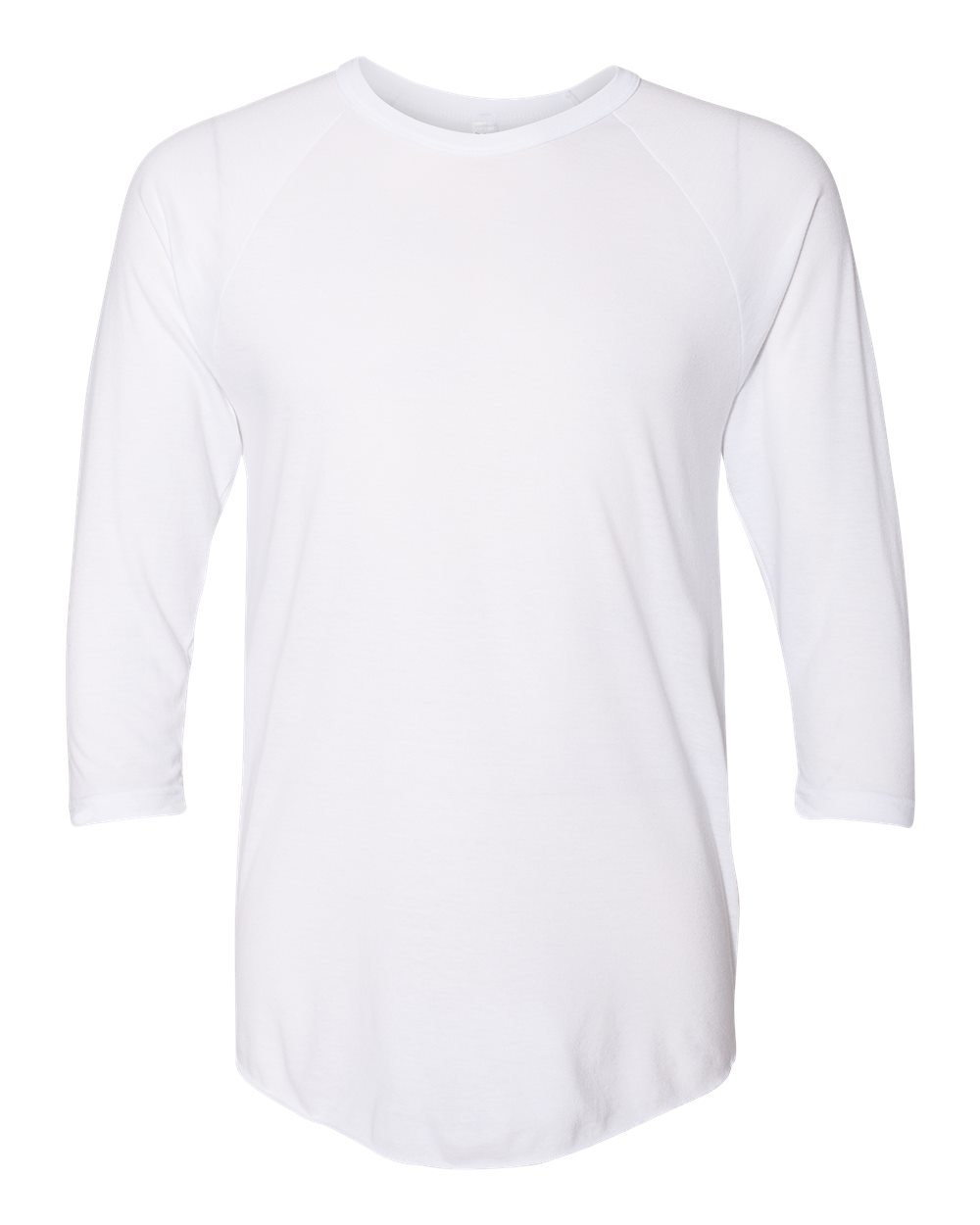 50/50 Raglan Three-Quarter Sleeve Tee-American Apparel