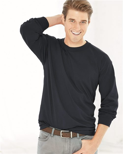 Bayside 2955 Union-Made Long Sleeve T-Shirt Model Shot