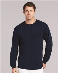 Gildan Ultra Cotton Long Sleeve T-Shirt with a Pocket