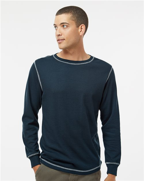J. America 8238 Vintage Thermal Long Sleeve T-Shirt Model Shot