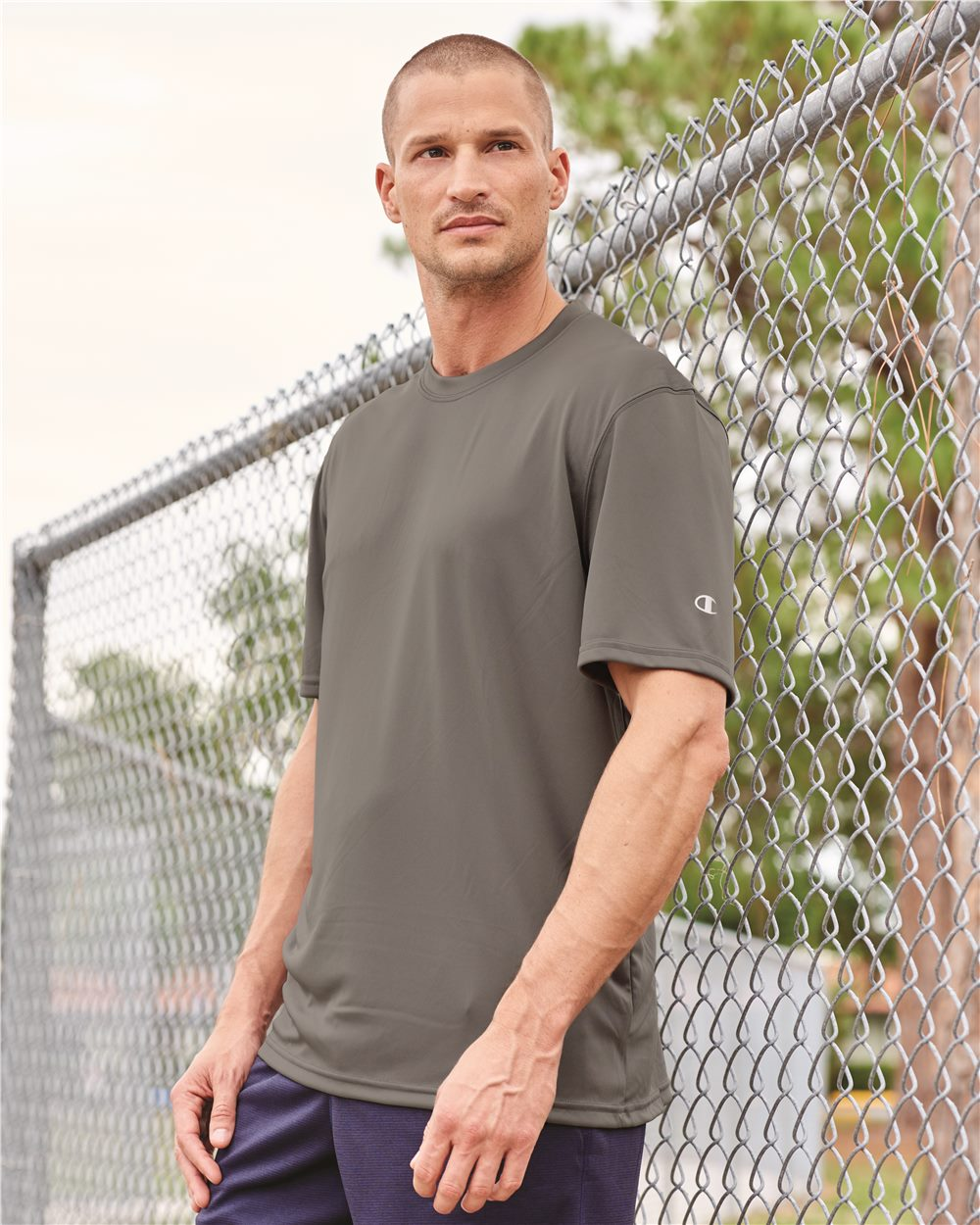 c7a22a2d Champion CW22 Double Dry Performance T-Shirt Model Shot