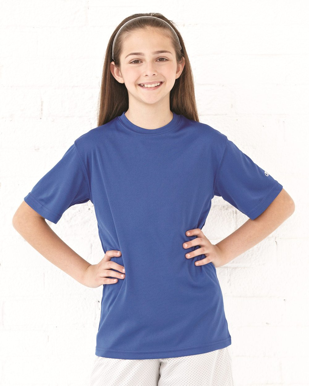 6ce7abcc Champion CW24 Double Dry Youth Performance T-Shirt Model Shot