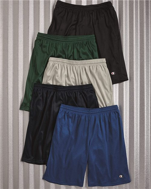 "Champion S162 Polyester Mesh 9"" Shorts with Pockets Model Shot"