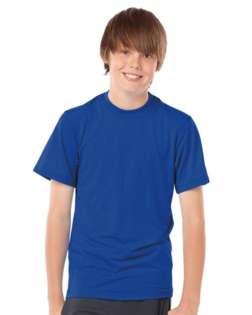 Badger 2820 Youth B-Tech Cotton-Feel T-Shirt Model Shot