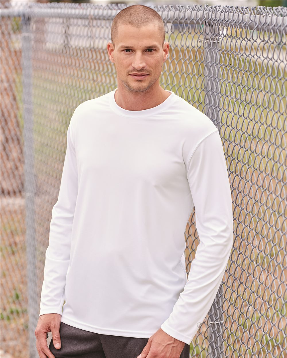 ab793cd4 Champion CW26 Double Dry Performance Long Sleeve T-Shirt Model Shot