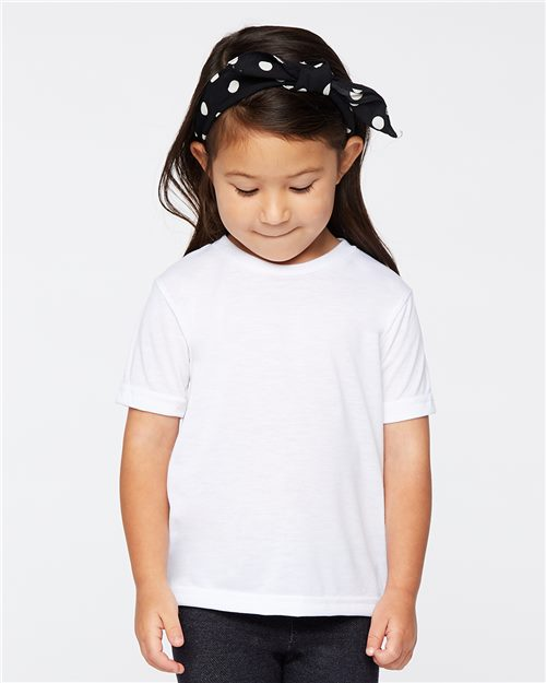 SubliVie 1310 Toddler Polyester Sublimation Tee Model Shot