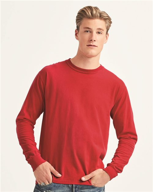 Comfort Colors 6014 Garment-Dyed Heavyweight Long Sleeve T-Shirt Model Shot