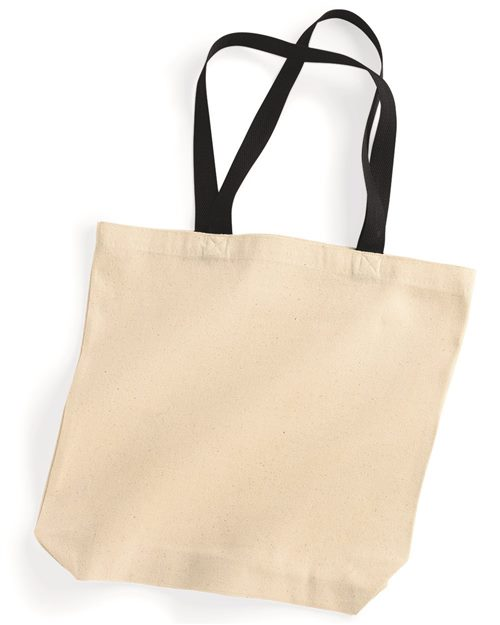 Liberty Bags 8868 Natural Tote with Contrast-Color Handles Model Shot