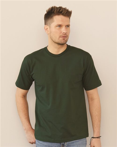 Bayside 5040 USA-Made 100% Cotton Short Sleeve T-Shirt Model Shot