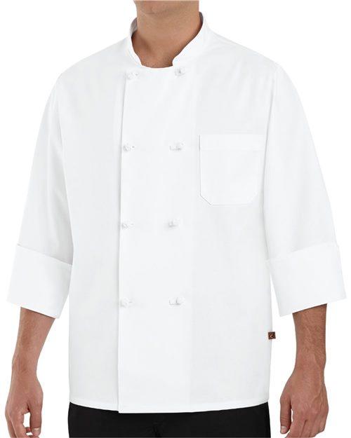 Chef Designs 0411 Eight Knot Button Chef Coat Model Shot