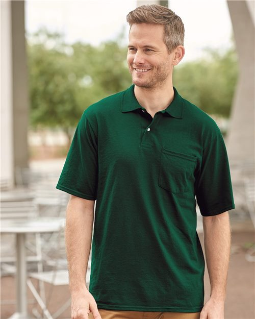 JERZEES 436MPR SpotShield™ 50/50 Sport Shirt with Pocket Model Shot