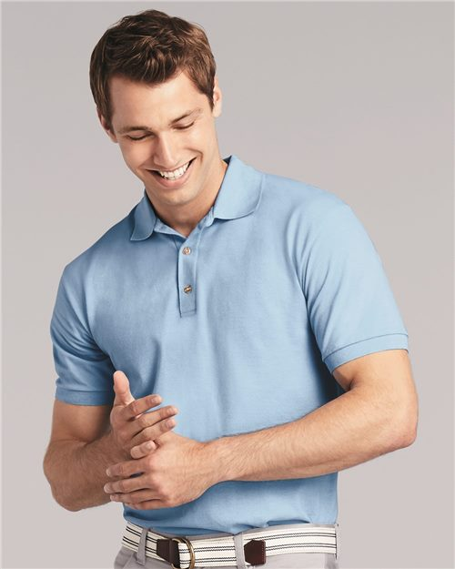 Gildan 3800 Ultra Cotton® Piqué Sport Shirt Model Shot