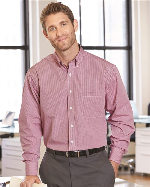 Van Heusen 13V0225 Gingham Check Shirt Model Shot