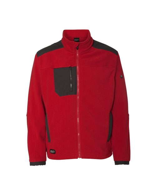 DRI DUCK 7350 Quest Microfleece Full-Zip Jacket with Polyester Panels Model Shot