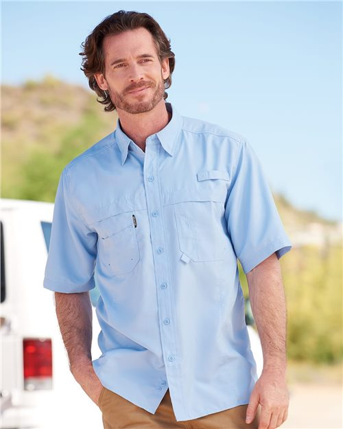 DRI DUCK 4406 Catch Short Sleeve Fishing Shirt Model Shot