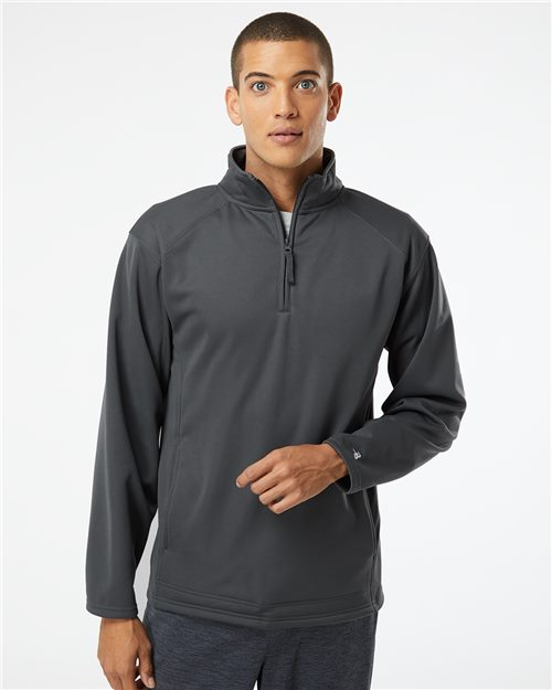 Badger 1480 Performance Fleece Quarter-Zip Pullover Model Shot