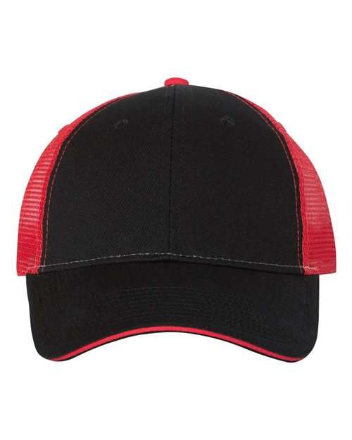 Valucap S102 Gorra Sandwich Trucker Model Shot