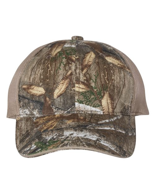 Outdoor Cap CGWM301 Washed Brushed Mesh-Back Camo Cap Model Shot