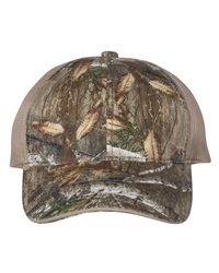 Outdoor Cap Washed Brushed Mesh-Back Camo Cap