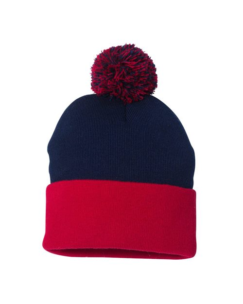 "Sportsman SP15 Pom-Pom Gorro de punto de 12 "" Model Shot"