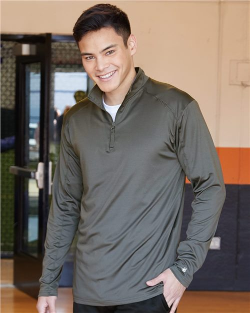 Badger 4280 Lightweight Quarter-Zip Pullover Model Shot