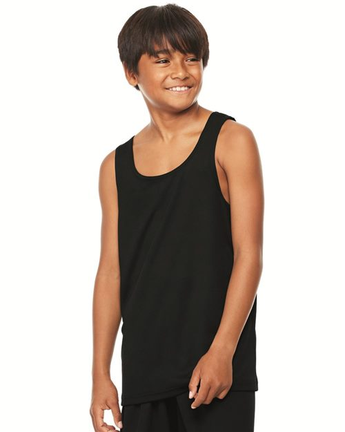 All Sport Y2780 Youth Mesh Tank Model Shot
