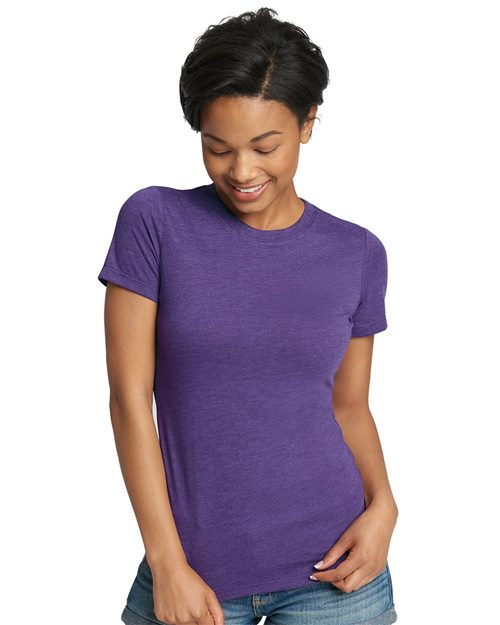 Next Level 6710 Women's Triblend Short Sleeve Crew Model Shot