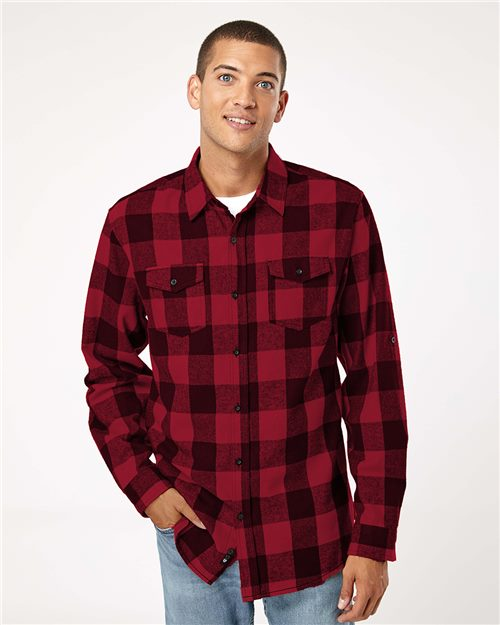 Burnside 8210 Yarn-Dyed Long Sleeve Flannel Shirt Model Shot