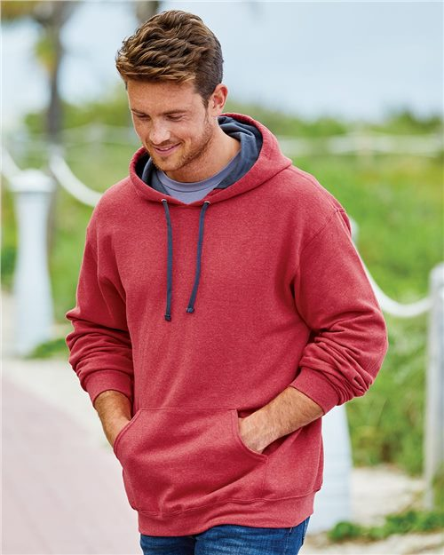 Fruit of the Loom SF76R Sofspun Hooded Pullover Sweatshirt Model Shot