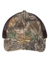 Outdoor Cap Camo Cap with Mesh Back and American Flag Undervisor