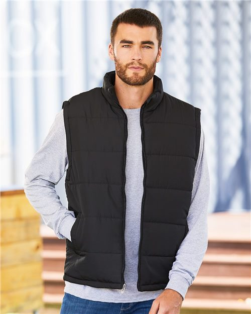 Burnside 8700 Puffer Vest Model Shot