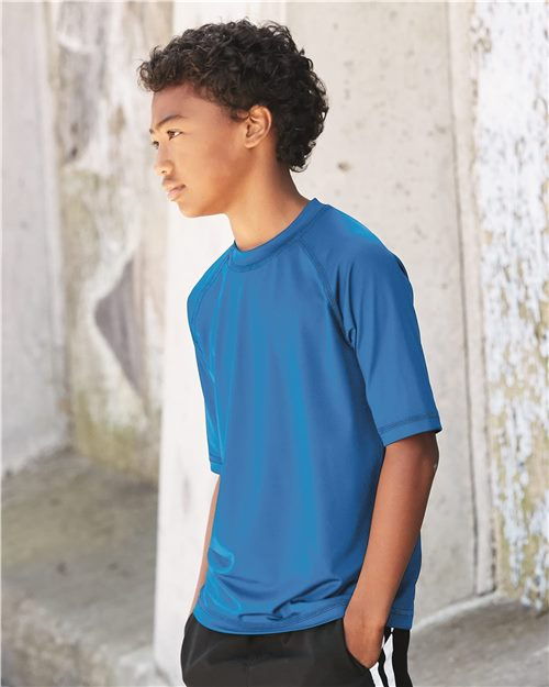 Burnside 4150 Youth Rash Guard Shirt Model Shot