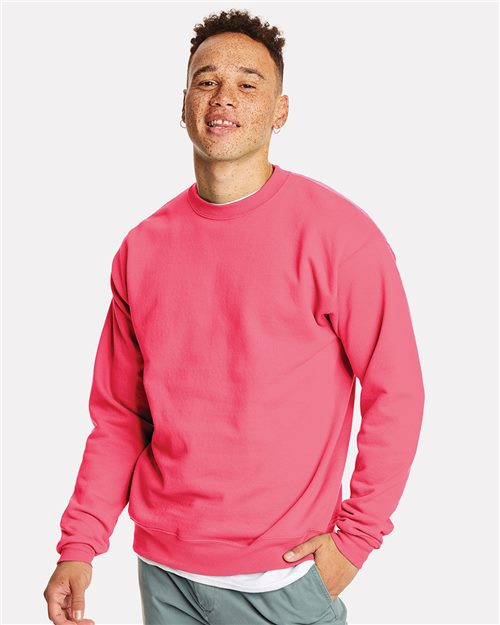 Hanes P160 Ecosmart® Crewneck Sweatshirt Model Shot