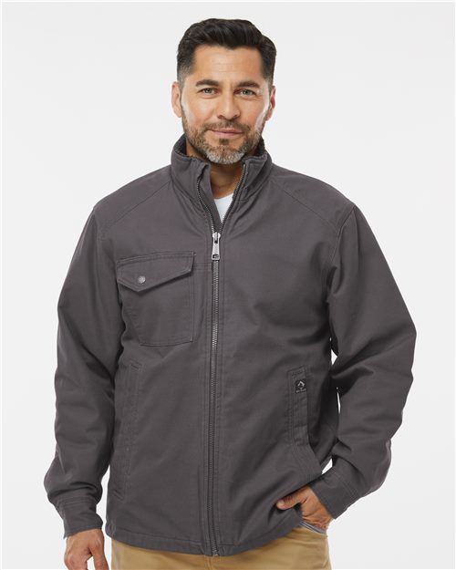 DRI DUCK 5037 Endeavor Canyon Cloth™ Canvas Jacket with Sherpa Lining Model Shot