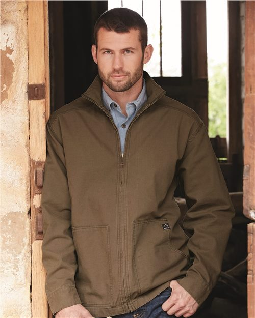 DRI DUCK 5038 Chaqueta de lona sin forro Trail Canyon Cloth ™ Model Shot