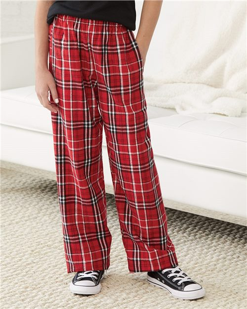 Boxercraft Y20 Youth Flannel Pants with Pockets Model Shot