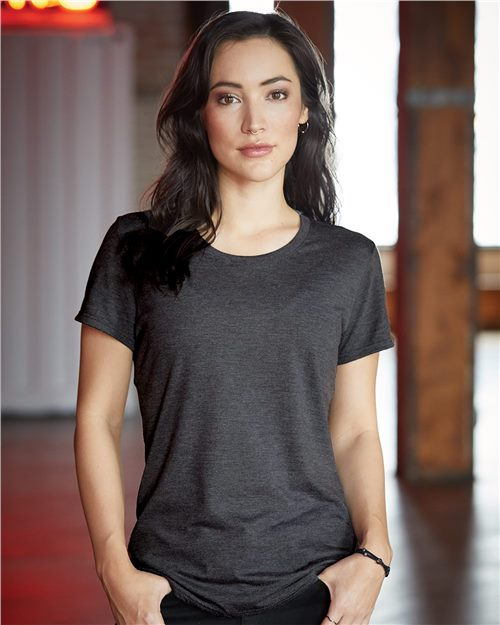 Anvil 6750L Women's Triblend T-Shirt Model Shot