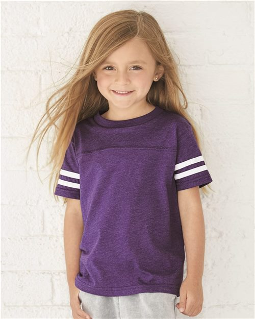 Rabbit Skins 3037 Toddler Football Fine Jersey Tee Model Shot