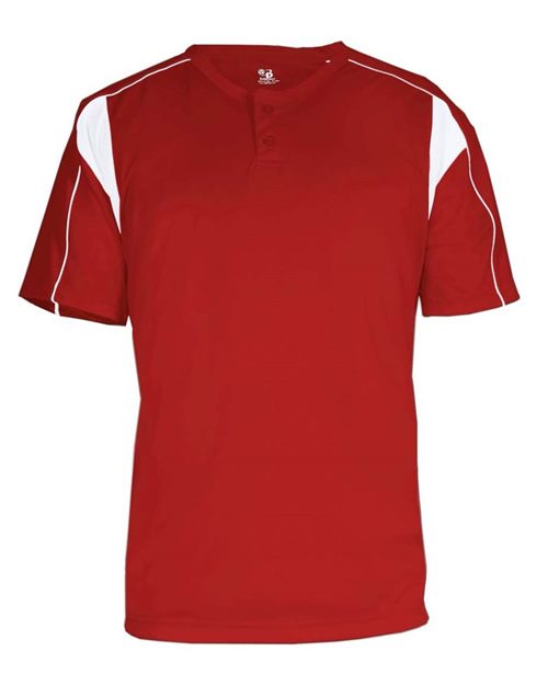 Alleson Athletic 7937 B-Core Pro Placket Jersey Model Shot