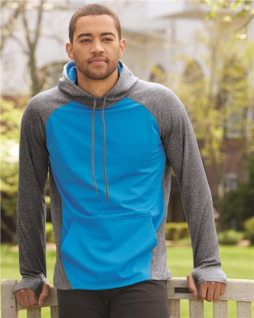 Augusta Sportswear 4762 Zeal Hooded Pullover Sweatshirt Model Shot