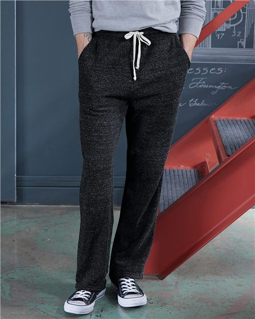Alternative 3500 Eco-Fleece Hustle Open-Bottom Sweatpants Model Shot