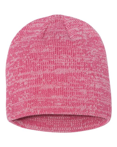 "Sportsman SP03 8"" Marled Knit Beanie Model Shot"