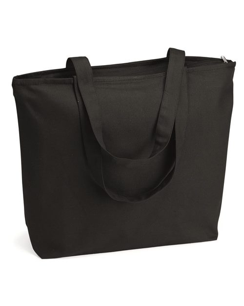 Q-Tees Q611 25L Zippered Tote Model Shot