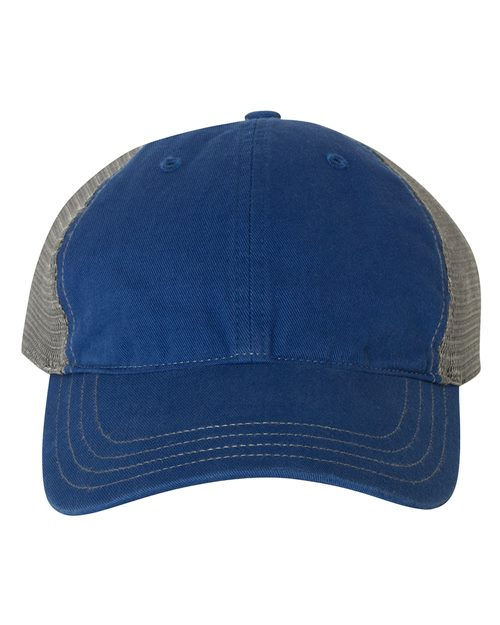 Richardson 111 Garment-Washed Trucker Cap Model Shot