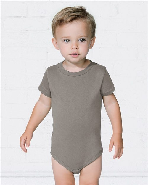 Rabbit Skins 4480 Infant Premium Jersey Short Sleeve Bodysuit Model Shot