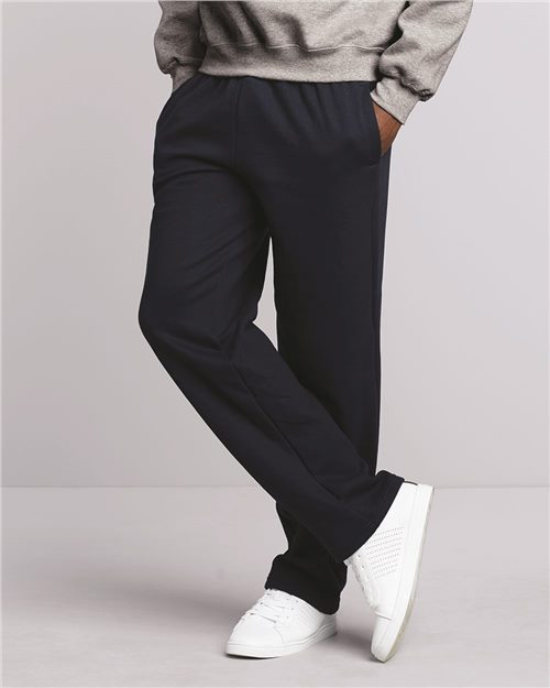 Gildan 12300 DryBlend® Open-Bottom Sweatpants with Pockets Model Shot