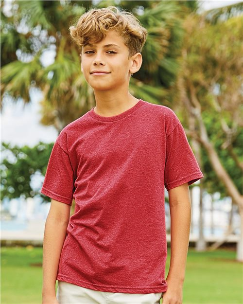 Fruit of the Loom SF45BR SofSpun Youth T-Shirt Model Shot