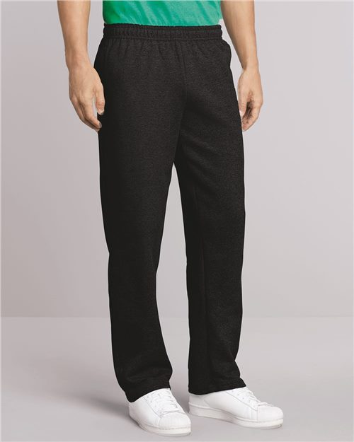 Gildan 18300 Heavy Blend™ Open-Bottom Sweatpants with Pockets Model Shot